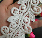 30cm White Embroidered Lace Edge Trim Ribbon Wedding Applique DIY Sewing Craft