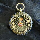 Vacheron Constantin Enamel Case Pocket Watch 18k yellow gold w Guilloche dial