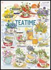 Tea Time 4 Chart Counted Cross Stitch Patterns Needlework DIY DMC Color
