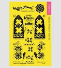Waffle Flower WARM HANDS Stamp Set Layered Christmas Winter Mittens Stitched