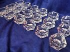 Lot of 18 Vintage Open Salt Cellar Dips Dishes Clear Cut Glass and Crystal