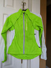 Womens neon green and white cycling Cannondale wind water resistant XS XP jacket