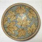 Maple Leaf Handmade Shallow Bowl Pottery Clay Artisan 11 Inches