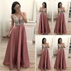 Pink Women's Formal Maxi Long Dress Evening Party Bridesmaid Prom Gown Dresses