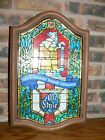 Vintage Old Style Beer Stained Glass Non Lighted Advertising Logo Bar Sign