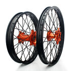21''/19'' Complete Wheel Set Orange Hub Rim KTM SX EXC 125 250 450 500 530 13-19