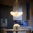 Nordic Gold Metal Glass Bubble Ball Pendant Light Magic Bean Chandelier Decor
