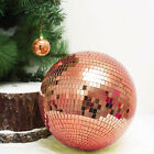 Rose Gold 16 wide Glass Mirror Disco Ball Ornament Party Wedding Decorations