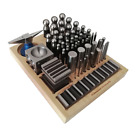 56pc Dapping Punch Set Jumbo Doming  Steel Block Jewelry Forming Kit