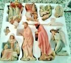 Members Mark 10 Piece Hand Painted 13 Christmas Nativity Set VINTAGE NEW UNUSED