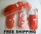 NOS Genuine Honda MTX200 MTX 125 200 RED ORANGE R119 Fender Cover Set FREE SHIP.