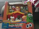 Veggie Tales Christmas Nativity Play Set Figurines Bible Toy New Gift Veggietale