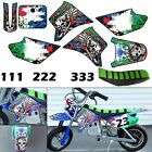 Burly Effects Graphics kit for Razor MX350  MX400 dirt bike Stickers Seat Cover
