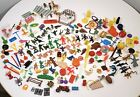VINTAGE PLASTIC TOY LOT JUNK DRAWER MUSCLE ARMY MEN ANIMALS DINOSAURS 1970s 80s