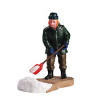 Lemax Village Street Pathway Snow Plow Cleanup Christmas Figure Accessory Decor