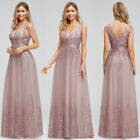 Ever-Pretty Women Floral Long Evening Prom Dress Embroidery Wedding Ball Gown US