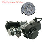 ATV Complete 49CC 50cc Engine Motor w Transmission Carb Air Filter+ T8F Chain
