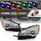 HYBRID RGB LED LOW BEAM13 16 Ford Escape Chrome Headlight Lamp SET Replacement