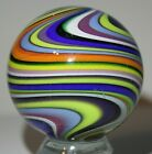 EDDIE SEESE MARBLE SIGNED FES 02 WoW COLORS HANDMADE GLASS MARBLE