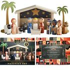 FAO Schwarz 15 Piece Wood Christmas Nativity Set Perfect For Children