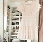 NEW Rachel Parcell Womens Eyelet Ruffle Lace Dress In Light Pink Size large
