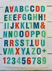 Glitter Alphabet ABC Letter Numbers Stickers Papercraft Scrapbook Planner Xmas