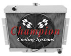 3 Row QR Champion Radiator 16 Fan for 1970 1985 Jeep CJ Series Chevy Config