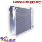 For 1987 1995 97 02 Jeep Wrangler TJ YJ V8 Conversion 3Rows Aluminum Radiator