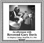 GARY DAVIS - An Afternoon With Reverend Gary Davis At Allegheny - CD - NEW