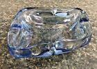 Blue Glass Atomic Ashtray Art Deco