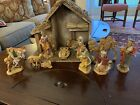 FONTANINI Nativity Depose Italy Set of 13 Figures  Animals w Creche Stable
