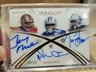 2015 Panini Immaculate Collection. #4 10 Jerry Rice Tim Brown Michael Irvin Auto