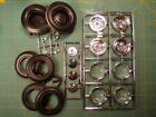 1/12 scale tires slicks and Halibrand wheels and knockoffs Junkyard Parts Lot