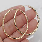 Fashion 18k Gold Plated Hoop Earrings for Women Jewelry Free Shipping A Pair set