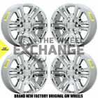 22 Chevrolet GMC Silverado Sierra 1500 Chrome wheels rims Factory OEM set 4741