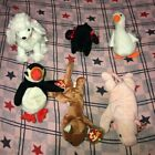 Beanie Baby Lot of (6) Retired Babies Gracie,L' Amore,Puffer,GiGi,Sly,Squealer
