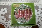 Vtg Hallmark Ambassador 1980 Joy Christmas Ornament NOS Holiday House Collection