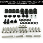 Complete Fairing Bolts Body Screws Kit For Suzuki DL1000 V-Strom 1000 2002-2019