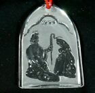 WATERFORD CRYSTAL 1998 NATIVITY HOLY FAMILY ORNAMENT 1ST EDITION W BOX