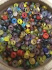 100 count mixed colors Jewel Tones glass BEADS Jewelry Making Supply lot