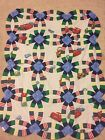Cars Double Wedding Ring Baby or Lap Quilt TOP 39 x 50 Handsewn
