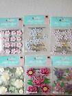 Jeweled Flowers Jolees Boutique Stickers Lot 6