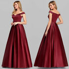 US Ever-Pretty Off Shoulder Long Formal Evening Prom Dresses A Line Wedding Gown