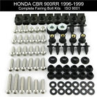 Complete Fairing Bolts Kit Screws Nuts For Honda CBR 900RR 1996 1997 1998 1999