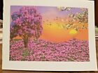 KITTYS NOTE CARDS Set of 10 + Envelopes Purple Sunset