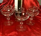 Crystal Champagne Glasses Clear wine goblets LOT OF 6