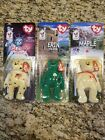 TY Teenie Beanie Babies Set Of 3 Bears Maple Erin Glory in boxes with ERRORS
