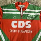 Decca Vintage Size 7 Cycling Jersey Green Red Christmas Belgium 90s Loud Street