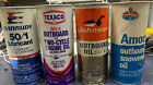 Vintage Outboard Oil Texaco Evinrude Johnson Amoco Oil Cans Full And Unopened