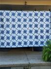 21 Beautiful FEATHERED PINWHEEL Vintage Hand Stitched Quilt c1930s